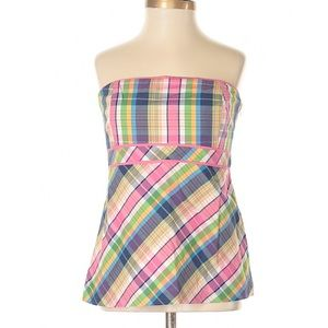 Lilly Pulitzer plaid tube top size 2 SUMMER!